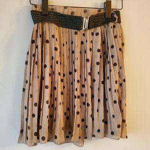 COSTA BLANCA   Polka Dot Pleated Skirt